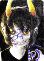 Gamzee: BE COLORED WITH PENCIL by rarkorn
