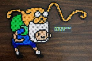 Fuse Bead Finn and Jake - Punch by PkmnMasterTash