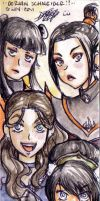 Avatar girls by LadyCat17