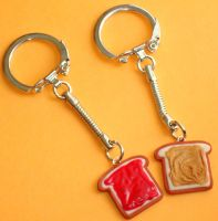 Toast Keychains by ClayConnections