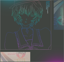 Rei ayanami Lineart by ANsTDs
