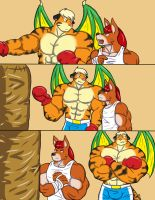 Punching Bag Rivalry page2 by CaseyLJones