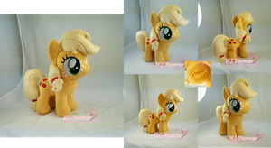 Applejack filly plushie (commission) by moggymawee