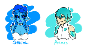 Blue Oc Concepts  by DawnoftheBlueMoon