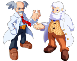Dr. Wily and Dr. Light by ultimatemaverickx