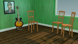 My Room and Guitar stage 02 by TheBigDaveC