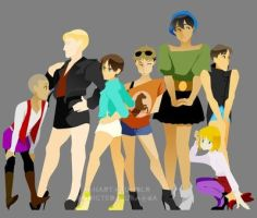 SNK: Dudes In Drag by Addicted2Kura