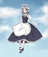 Sakuya Izayoi - Touhou #Point Commission [1] by Melo-Cake