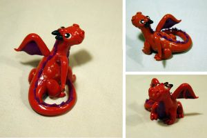 Little Red Dragon by LitefootsLilBestiary
