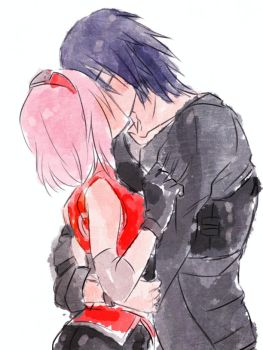 SasuSaku The Last ~ Kiss by Stray-Ink92