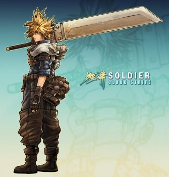 Cloud Strife: Soldier by buraisuko