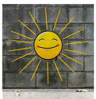Graffiti Smiley: Sun by mondspeer