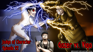 Judge of Character Title Card - Gozer vs. Vigo by BeckHop