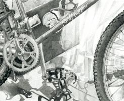 Portfolio 4 RISD bike drawing by Lumichi