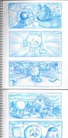 Pac-Man Mixtape Storyboard 16. by Atariboy2600