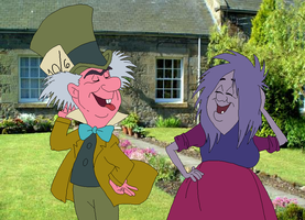 Madam Mim and the Mad Hatter by SelenaEde