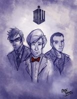 The Doctors 9, 10, and 11 by Chansey123