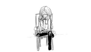 Girl sitting on a chair by Crazy-Luna