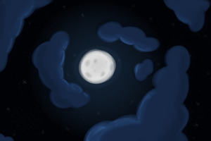 The moon shines brighter than the stars by TwitterShy