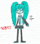 Mantha as Hastune Miku crossover cosplay by ThatchFangirl12