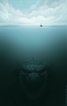 Godzilla (sketch) by Cthulhu-Great