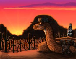 The Desert and the snake by Ravenfire5
