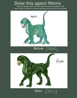 Before and After - Reptile by Shaiger