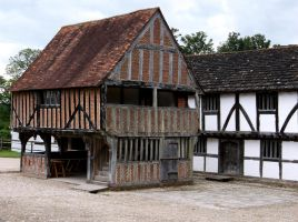 15th and 16th century timbered buildings 1 by OghamMoon