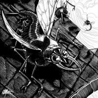 Dark Unknown - Giant Insect by indigowarrior