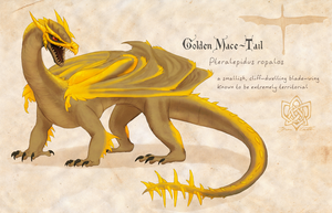 Golden Mace-Tail by Kyie27