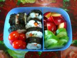 veggie crabstick kimbab with red plum by plainordinary1