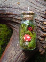 Enchanted Woodland Pendant by KespeadooksitAgain