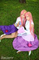 Lacus Clyne and Meer Campbell cosplay by adami-langley