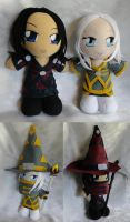 Commission, Warcraft Pair of Mini Plushies by ThePlushieLady