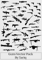 Guns Vector Pack by tariqelamine