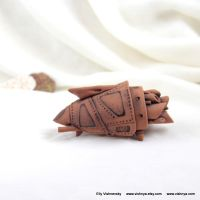 OOAK Ceramic terracotta spaceship - 1 by vavaleff