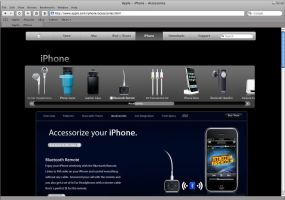 iPhone Accesories WebPage by i-visual