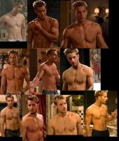 Justin Hartley SHIRTLESS collage by slayerxy