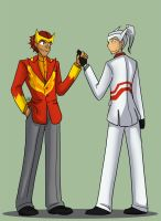 TF - Rodimus and Drift in Suits by liliy