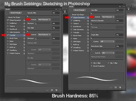My Photoshop Brush Settings for sketching by canvasbushi