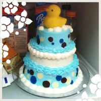 Baby Shower Rubber Duckie Cake by rltan888
