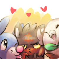Sun and Moon Starters by Foxeaf