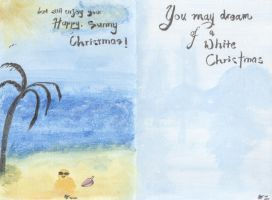 White and Sunny Christmas Card by glasscoloredsnow