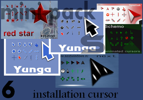 mini pack-6 installer cursors by tchiro