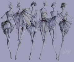 Fashion Sketch collection by emuuhlee
