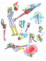Brainiac 5 and Supergirl Sketchedump by MadelineStevenson