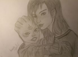 Mass Effect a New Family Member by SketchGlee