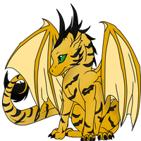 Tinari -  the tiger striped dragon by earth-tiger