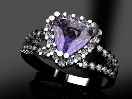Tanzanite and Diamond Ring by LeahAshley