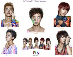 MYNAME : Debt song Message by KpopBackgrounds1